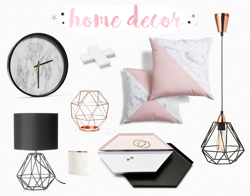 Kmart Australia Home Decor Copper Pink Marble