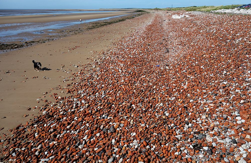 Crosby Beach rubble