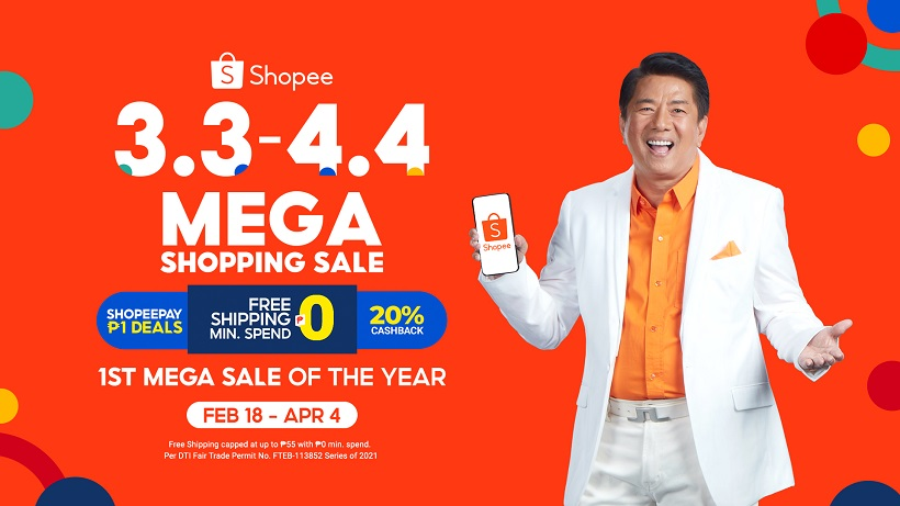 Shopee launches 3.3 - 4.4 Mega Shopping Sale with its Newest Brand Ambassador Willie Revillame