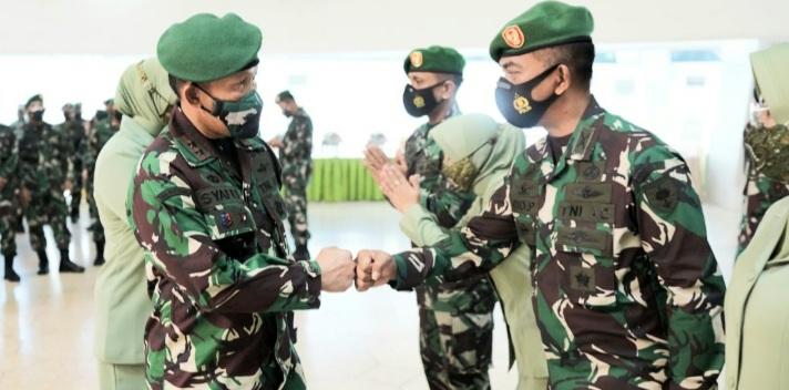 Ribuan Prajurit dan PNS di Jajaran Kodam Hasanuddin Naik Pangkat