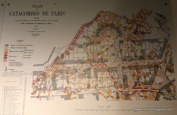 Map of the Catacombs of Paris