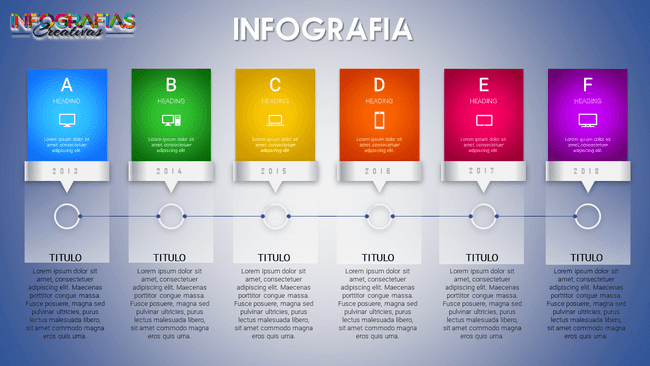 Plantilla de infografía dinámica para diferentes fines