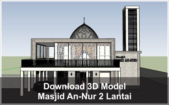 download 3d masjid jami an-nur