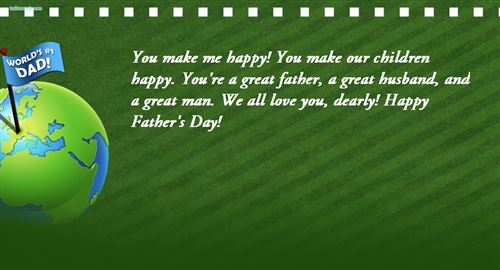 Happy fathers day wishes messages quotes from wife to husband fathers day messages from wife to husband m4hsunfo