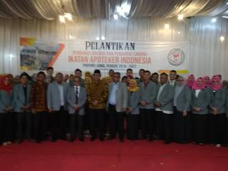 Sekda Menghadiri Pelantikan Pengurus PD IAI Wilayah Provinsi Jambi Dan Cabang Kabupaten Kota.