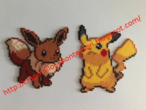 Modele Pixel Art Pokemon Evoli