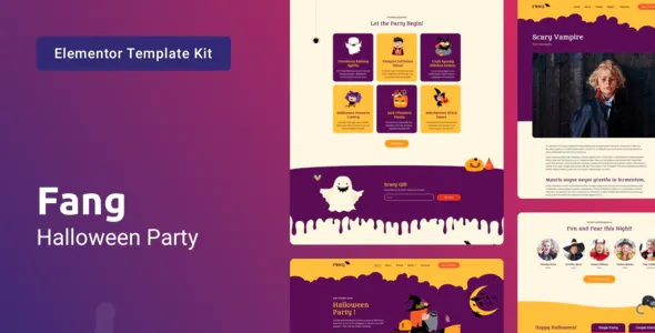 Best Halloween Party Template Kit for Elementor