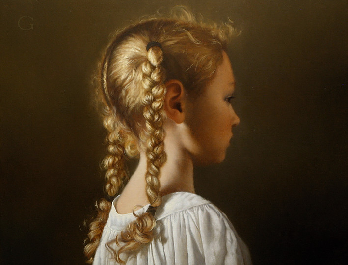 04-Braids-David-Gray-Lost-in-Thought-Realistic-Oil-Paintings-www-designstack-co