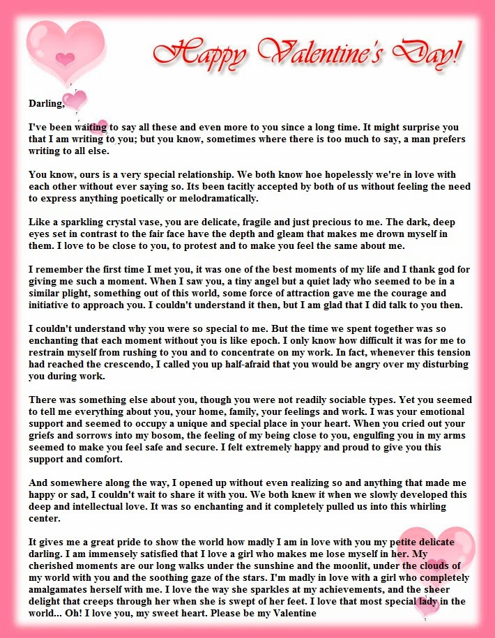 Love Letter For Him In English Image collections  Letter Examples