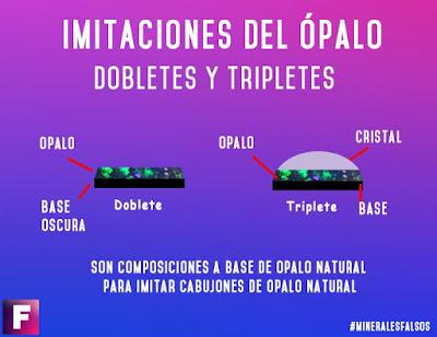 dobletes y tripletes opalo imitaciones | foro de minerales