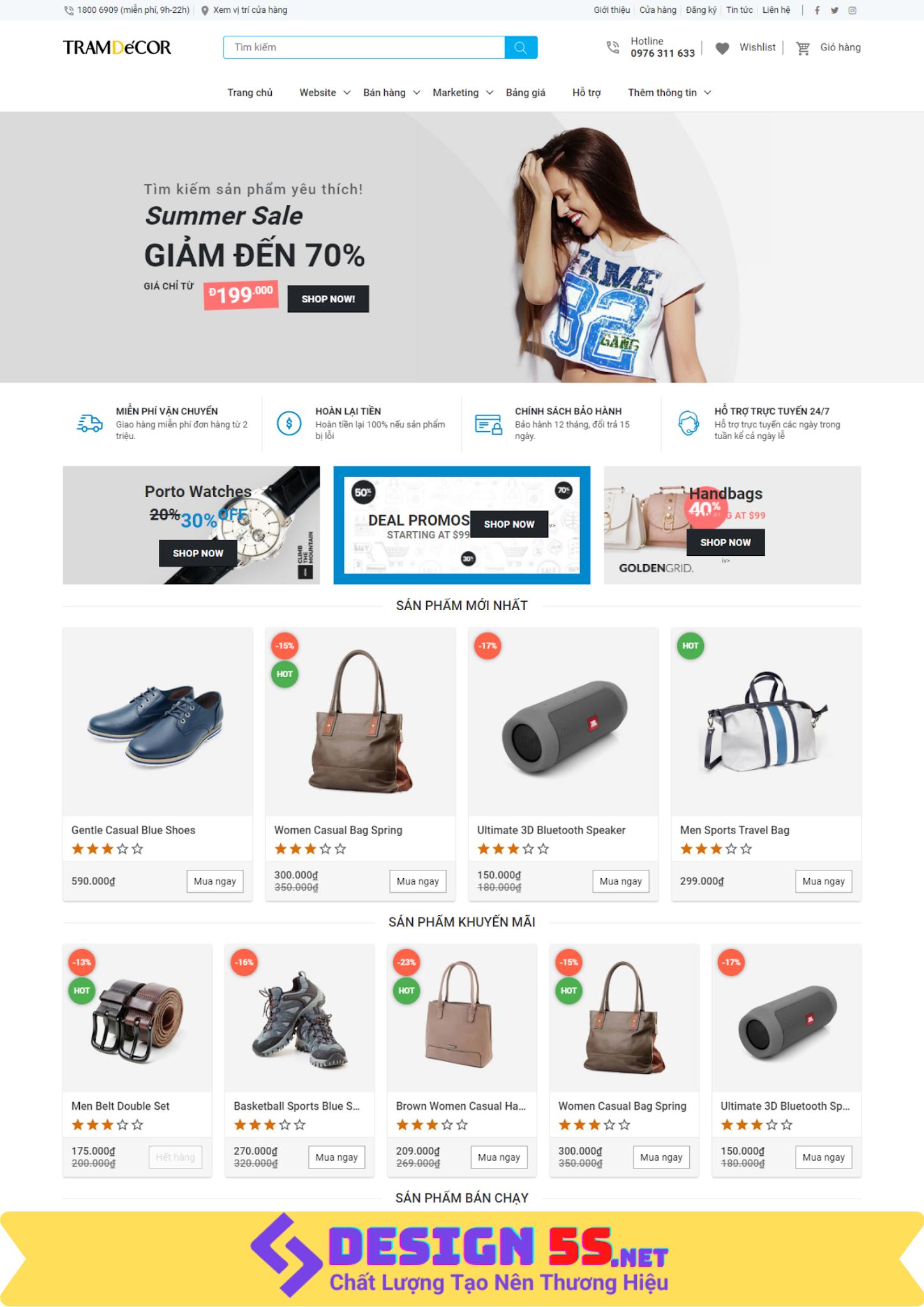 Template blogspot bán hàng, chuẩn SEO VSM09
