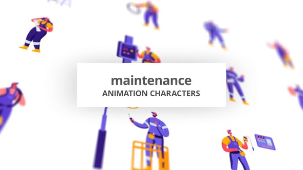 Videohive - Maintenance - Character Set 28672388