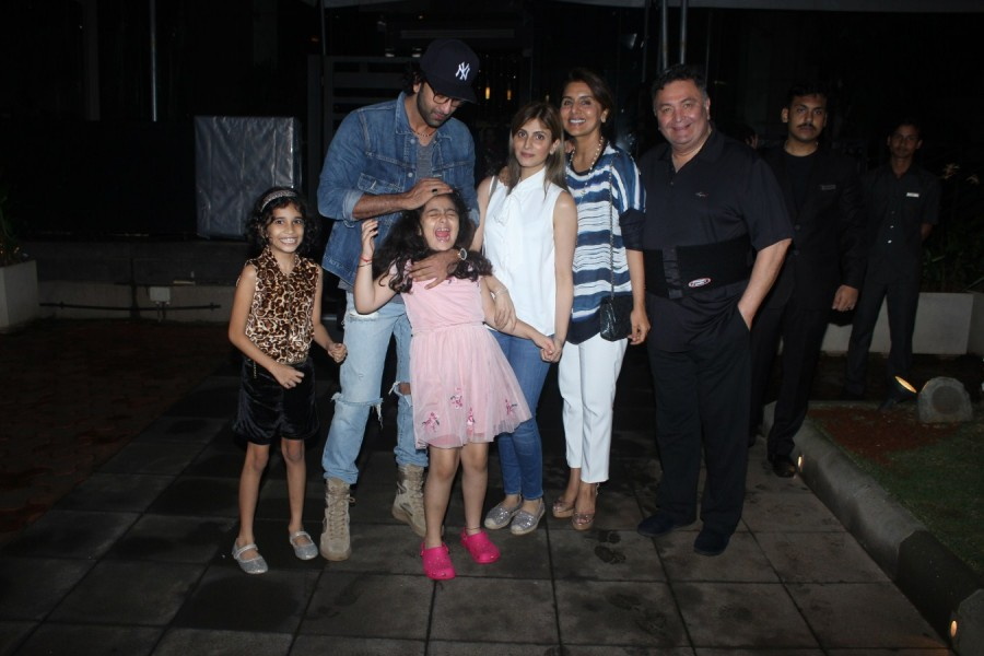 Ranbir Kapoor and Niece Samara Spotted at a Family Dinner