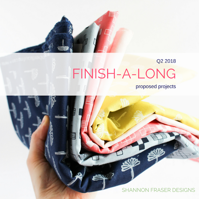 Q2 2018 Finish-A-Long | Shannon Fraser Designs | Blueberry Park 3 Fabrics by Karen Lewis Textiles