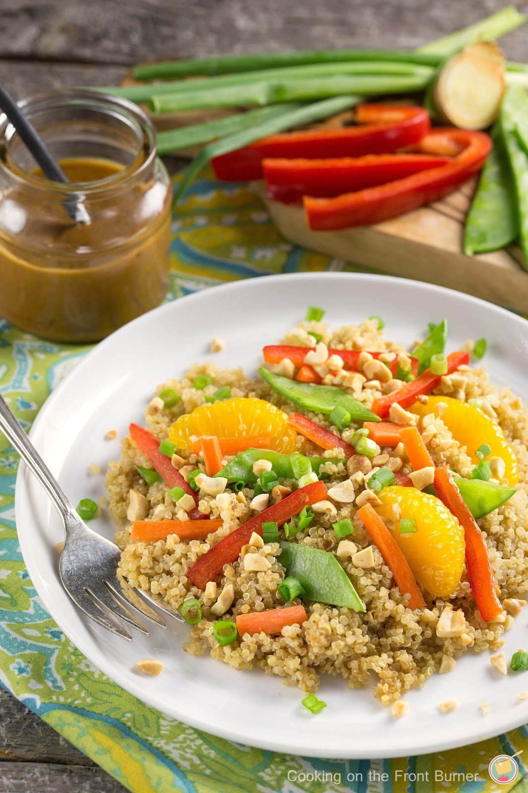 Asian Quinoa Salad | Cooking on the Front Burner