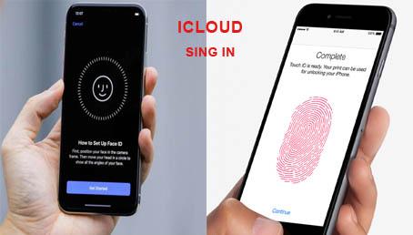 تسجيل الدخول على آي كلاود باستخدام بصمة الأصبع أو الوجه