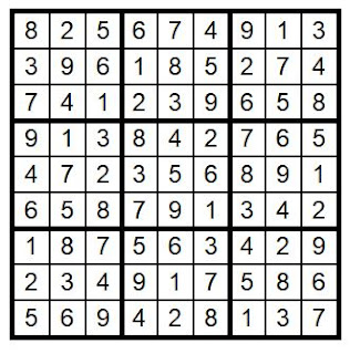 Answer Key Sudoku #31 Brain Training with Cats ©BionicBasil®