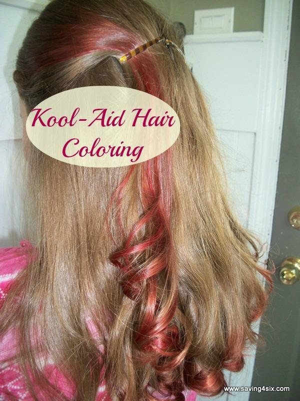 Kool-Aid Hair Coloring