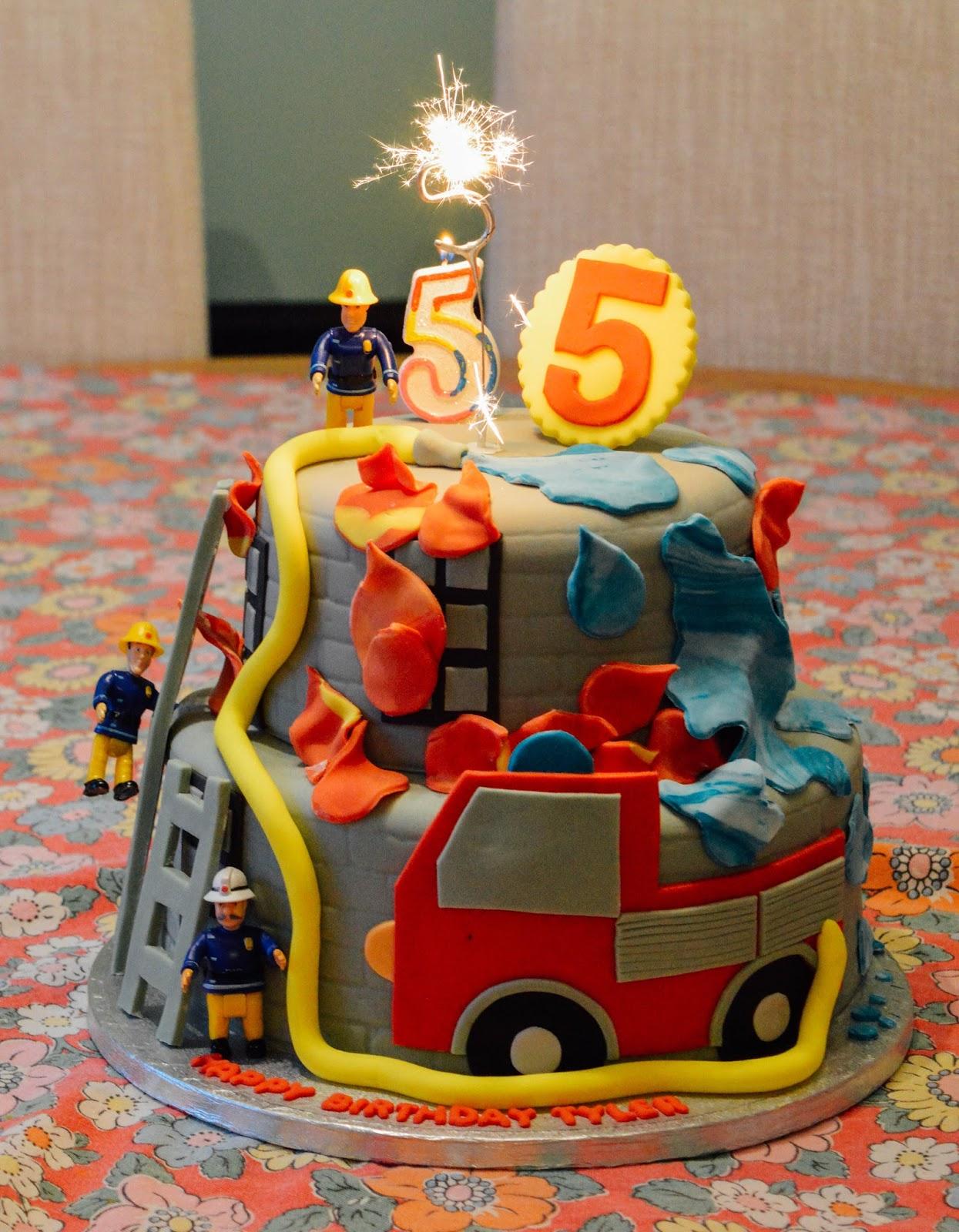 Awe Inspiring Tylers 5Th Birthday Fireman Sam Birthday Cake Dolly Dowsie Funny Birthday Cards Online Elaedamsfinfo