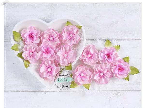 Handmade Foamiran Flowers in Pink