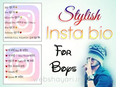 stylish insta bio in hindi for boys
