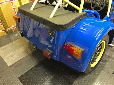Rear lights fitted to my Caterham Academy Car
