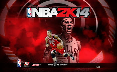 NBA 2K14 D Rose Title Screen Cover Mod