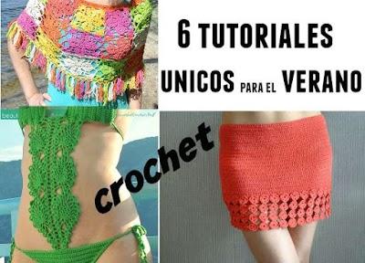 6 tutoriales de crochet para el verano
