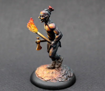 Woodland Indian With Torch OSL