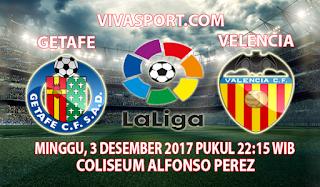 Prediksi Getafe vs Valencia 3 Desember 2017