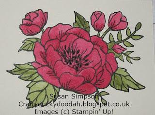 Stampin' Up! Susan Simpson Independent Stampin' Up! Demonstrator, Craftyduckydoodah!, Birthday Blooms,