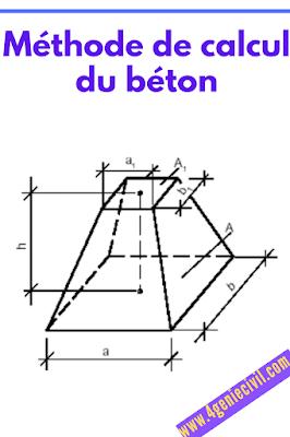 Comment calcul le volume du béton