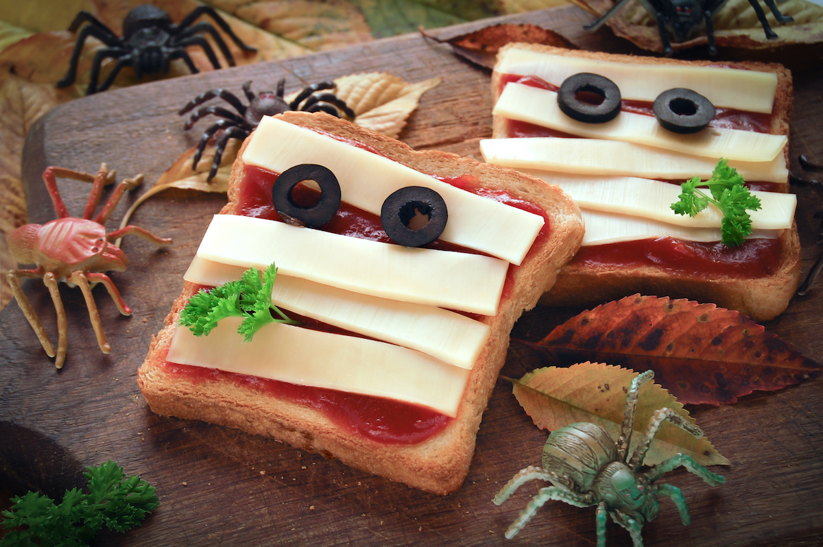 sándwich decorado para halloween