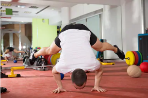 Handstand Push up trick [Calisthenics]