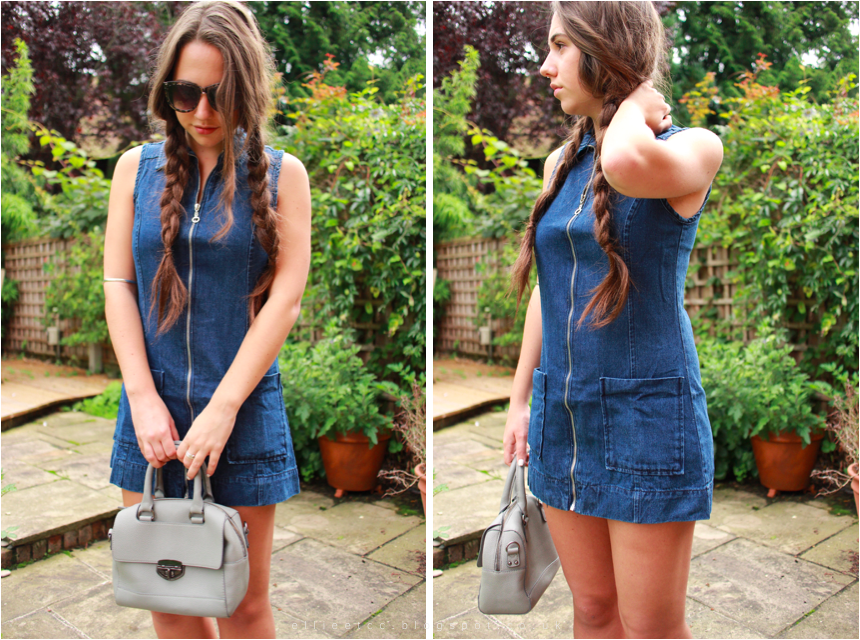 Ultimate Transitional Dress - A denim dress from boohoo.com styled for summer, swinter and autumn seasons. Featuring ASOS, Zara, Primark, H&M, New Look, fashion, style, lookbook #WeAreReady