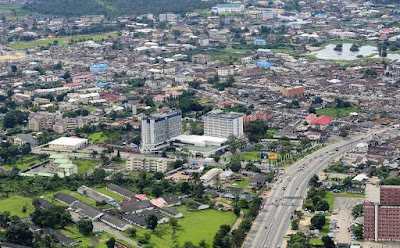 Aerial view of Warri