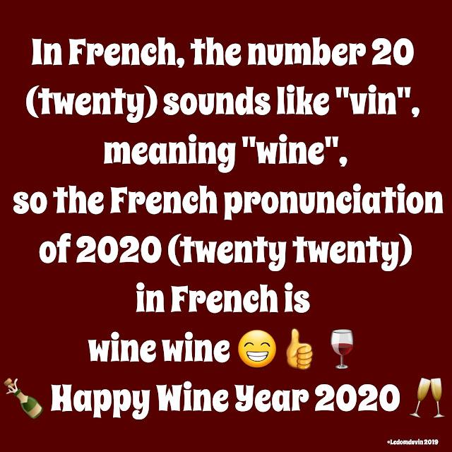 Happy Wine Year 2020 ©LeDomduVin 2019