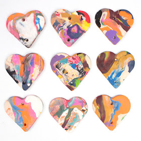 How to Make a super easy DIY Clay Heart mobile using Sculpey Clay- fun kids craft