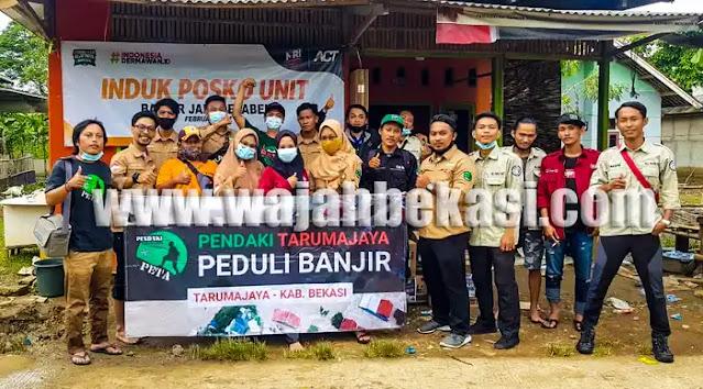 Komunitas Pendaki Tarumajaya Laksanakan Aksi Peduli Banjir