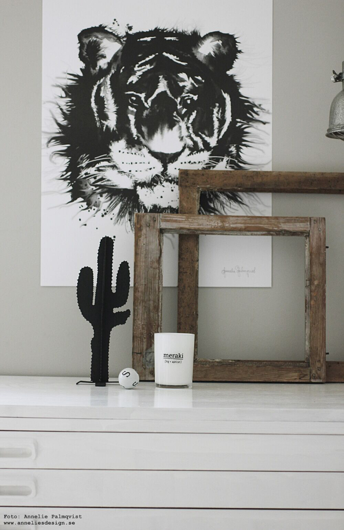 annelies design, webbutik, webshop, nätbutik, tiger, tigrar, poster, posters, tavla, tavlor, meraki, doftljus, kaktus,