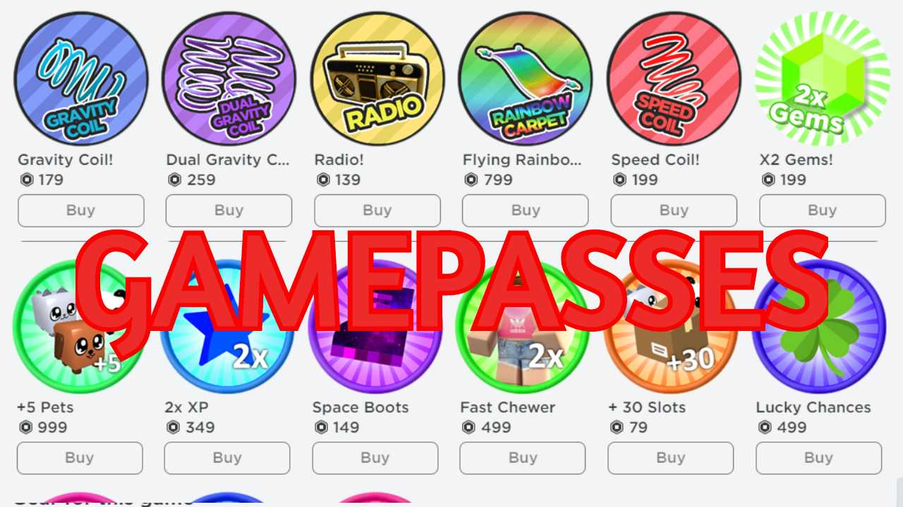 What are Roblox Game Passes and what are they for?