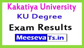 Kakatiya University KU Degree Exam Results 2017