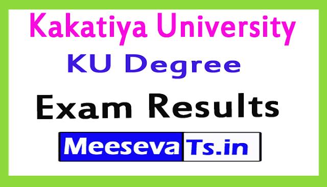 Kakatiya University KU Degree Exam Results 2018