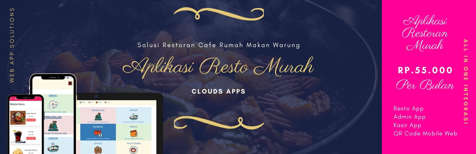 whatsapp order qrcode menu digital restoran