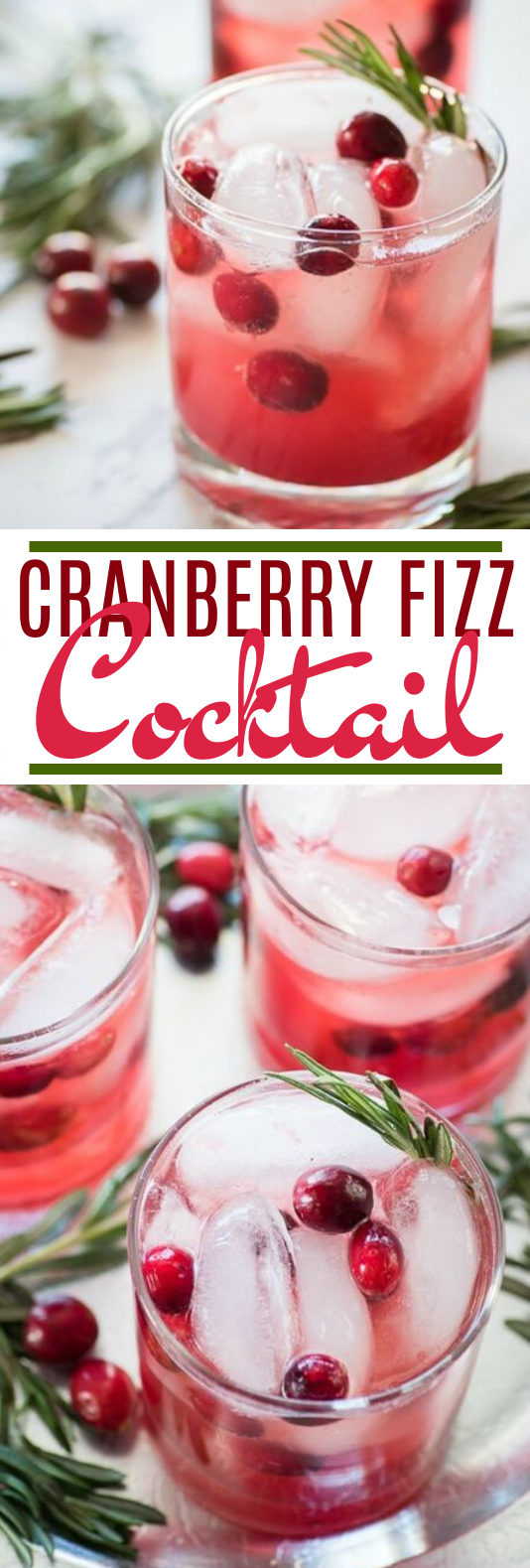 Cranberry Fizz Cocktail #drinks #alcohol #cocktails #christmas #punch