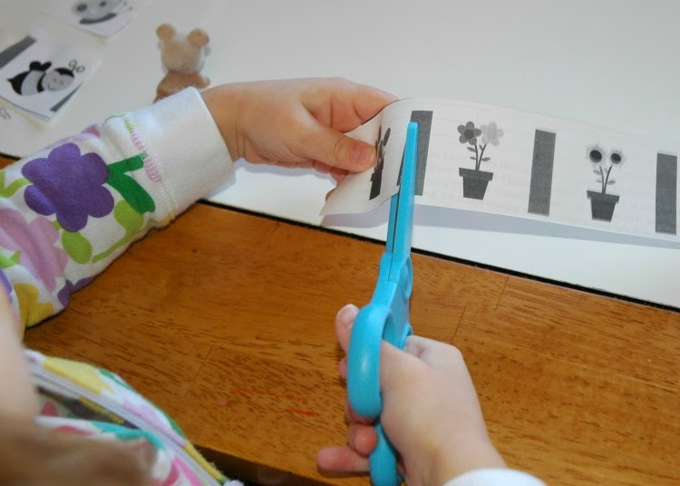 Cutting Practice for Spring Theme- Weekly Homeschool Preschool