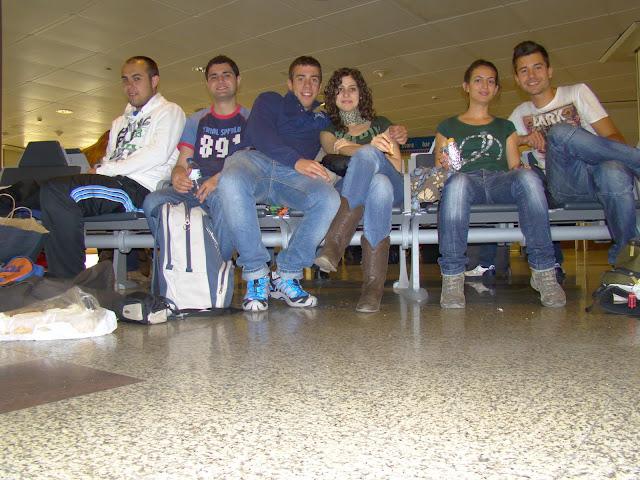 Esperando en el aeropuerto de Madrid Barajas