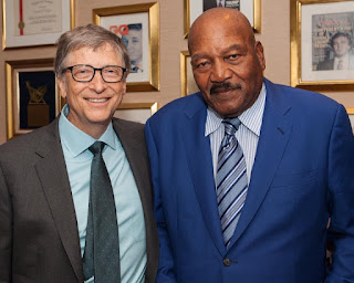 Bill Gates and Jim in a photo session in Trumps Tower.  PHOTO | Courtesy