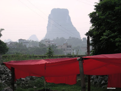 red cloth from Sanjie Liu show