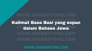 kalimat Bahasa Jawa untuk basa-basi